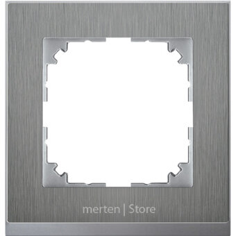MERTEN M-Pure Decor РАМКА 1 пост, НЕРЖ.СТАЛЬ/АЛЮМИНИЙ, SM