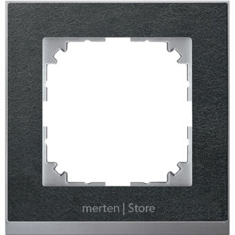 MTN4010-3669 - MERTEN M-Pure Decor РАМКА 1 пост, СЛАНЕЦ/АЛЮМИНИЙ, SM