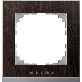 MTN4010-3671 - MERTEN M-Pure Decor РАМКА 1 пост, ВЕНГЕ/АЛЮМИНИЙ, SM