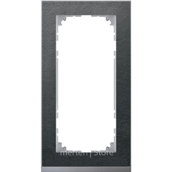 MTN4025-3669 - MERTEN M-Pure Decor РАМКА 2 поста б/перегородки, СЛАНЕЦ/АЛЮМИНИЙ, SM