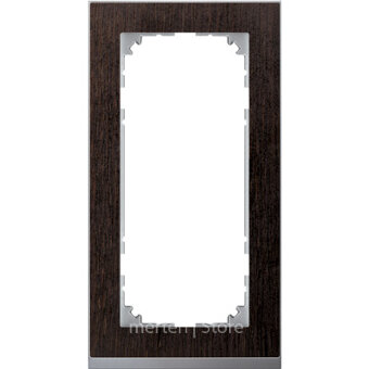 MTN4025-3671 - MERTEN M-Pure Decor РАМКА 2 поста б/перегородки, ВЕНГЕ/АЛЮМИНИЙ, SM